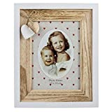 Bilderrahmen aus Holz, Herz, Fotorahmen, Portraitrahmen für 1 Foto 13x18cm (Hochformat)
