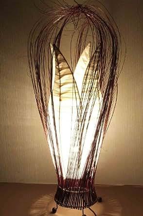 Lampadaire asiatique Flower White G (LA12-90Z/WE/75), lampe design, lampe sur pied, lampe du sol, lampe à pied, lampe poétique, design decoratif, accessoires Bali