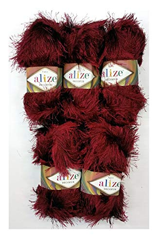 Alize - 5 ovillos hilo labores punto 100 g, flecos