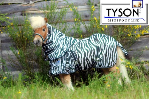 Fliegendecke Zebra Minishetty Mnipony Shetty Falabella Decke 65 70 75 80 85 90 cm (90 cm)