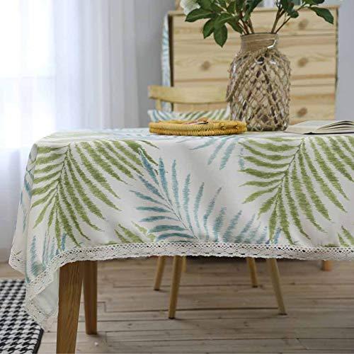 chdecke, Einfache Elegante Grüne Blätter Amerikanischen Stil Tisch Läufer Tisch Tuch Abdeckung Fotografie Bankett, Küche/esszimmer/café/picknick/abendessen Tischdecke 140x160cm ()
