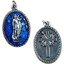 Eurofusioni Medalla chapeada Plata San Miguel Arcángel - 10 Piezas