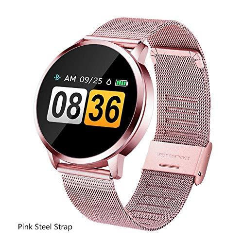 Imagen de teabelle reloj inteligente a prueba de agua pantalla a color presión arterial pulsera inteligente mujer recordatorio del ciclo menstrual rosa alternativa