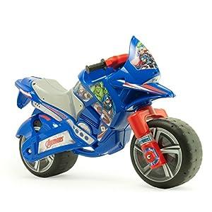 Avengers Marvel INJUSA-Moto Correpasillos Hawk XL para Niños a Partir de 3 Años con Asa de Trasporte, Color Azul y Rojo 19377/000