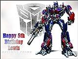 Personalisierbare Tortenauflage aus essbarem Zuckerguss, A4, Motiv: Transformers Optimus