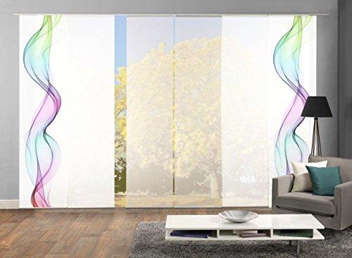 HOME Wohnideen Komplett-Fenster-Schiebevorhang Alberta, 6-er Set, 245x60 cm multicolor