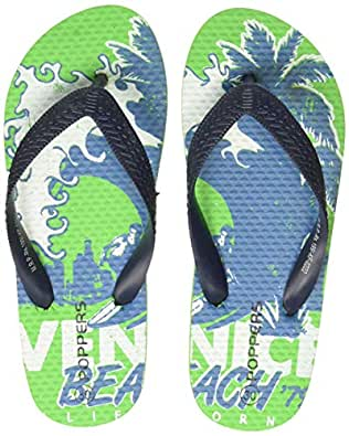 Poppers by Pantaloons Boy's Green Slippers-10.5 Kids UK (30 EU) (880000997)
