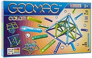 Geomag- Classic Color Construcciones magnéticas y Juegos educativos, Multicolor, 91 Piezas (263)