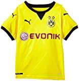 PUMA Kinder Trikot BVB Ambassador Replica Shirt, Cyber Yellow, Black, 176