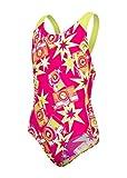 Speedo Mädchen Wizzy Flash Allover Splashback Badeanzug, Electric-Rosa/Limetten-Grün/Weiß, 30