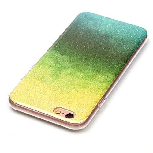 Wkae Case Cover Für iPhone 6 Plus &6s Plus-IMD Farbe verblaßt Glitter Puder TPU-Schutzhülle ( SKU : IP6P8855M ) IP6P8855B