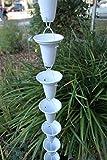 RegenKette zu cup Aluminium weiß für Dachrinnen ForHome® - Fähigkeit Drain 3,5/5 - Kompletter Kettensatz