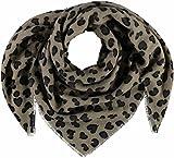 FRAAS Damen Schal Tuch mit Animal-Print, Grün (Khaki 750), One Size