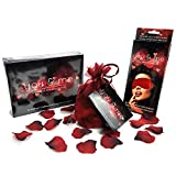 You & Me Game The Intimate Collection Includes: Game, Blindfold, Rose Petals Ideal Valentines Day Gift BUNDLE