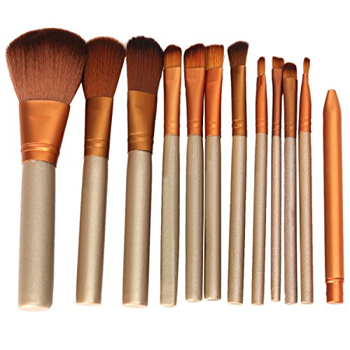 Vococal® 12pcs Maquillage Professionnel Brush Set pour Cosmétique