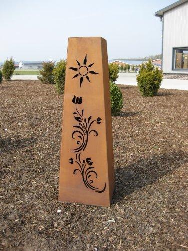 Jabo Design konische Rost Säule RS91 Gartensäulen Blumensäule rostig Säulen Deko Gartendeko