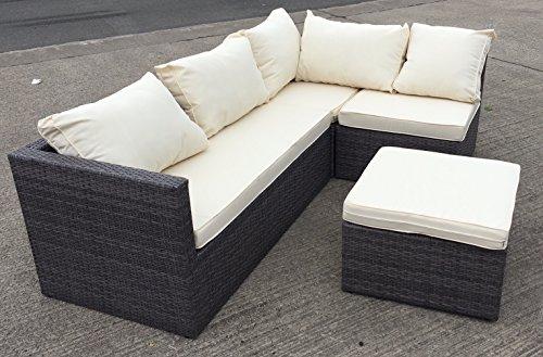 mmt rattan grey garden furniture l shaped corner
