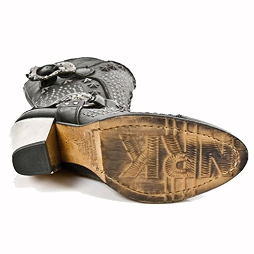 New Rock Bull Schwarz Stiefel M.7989-S1 BLACK, BLACK