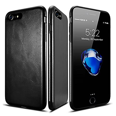 iPhone 7 hülle,Roybens® Hybride Gummierte Ultra-dünne Anti-Rutsch-Fall TPU Lederne Shockproof