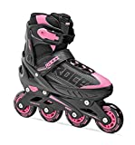 Roces Jokey, Pattino in Linea Bambina, Black/Pink, 34-37