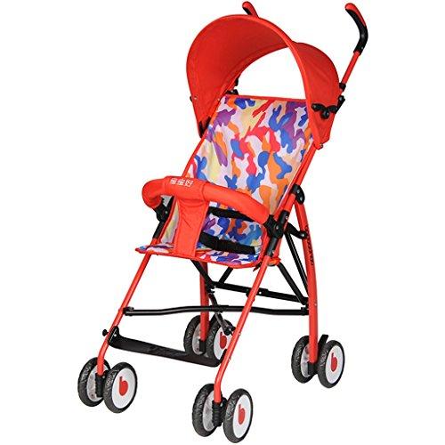 &Klappwagen Leichter Regenschirm des Kinderwagens tragbarer faltender einfacher Babykleinkinderwagen Mini (Farbe : 2#)