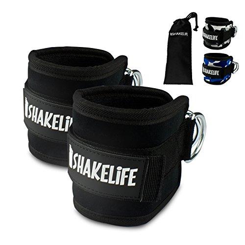 [EXTRA STARK] Premium Fußschlaufen (2 Stück) - Gepolstert - Perfekt für Beintraining am Kabelzug - Gratis Tragebeutel - Flexibel einstellbar für jedes Workout und dein Po Training