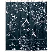 Tenda da doccia 152,4x 182,9cm, Fantasy grafico costellazione del triangolo, a prova di muffa poliestere tessuto bagno tenda