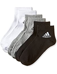 adidas Per Ankle T 3Pp Calcetines , Unisex adulto, Negro / Gris / Blanco, 43-46
