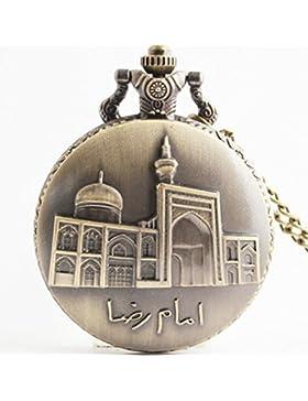 Gudeke Islam Muslim Mosque Schön Geprägte Quarzuhr männliche und weibliche Studenten Geschenk Taschenuhr