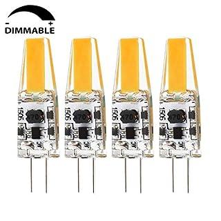 Albrillo G4 LED Bulb Dimmable 2W, 20 Watt Halogen Bulbs Equivalent, AC DC 12V, 3000K Warm White, 4 Pack