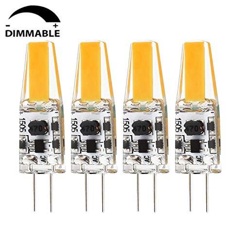 Albrillo 4 x G4 LED Bombilla COB Regulable/ 2W G4