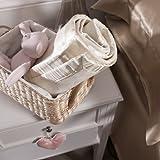 Jasmine Silk pura de seda manta de bebé (100x 75cm)–marfil