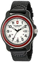 Victorinox Mens 249085 Original XL Analog Display Swiss Quartz Black Watch