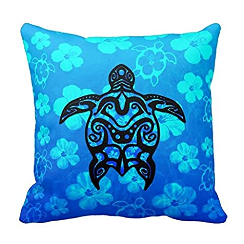 Tribal Tortue Hibiscus Couvre-lit Taie d
