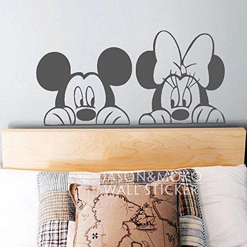 Zeichentrick Micky Minni Maus Tier Vinyl Tapetensticker Aufkleber Wandbild Tapeten niedliche Kinder Kinderzimmer Dekor Schlafzimmer Home Art 40x80cm
