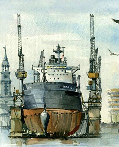 rviette Stadt Queen Mary Hafen 20 Stück 3-lagig 33x33cm ()