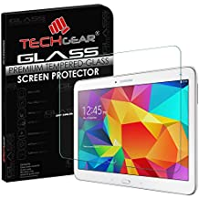 'Techgear – Protector de pantalla para Samsung Galaxy Tab 4 10.1 Inch (SM-T530 Series) Glass Edition Genuine Tempered Glass Screen Protector Guard Cover