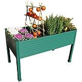 Mesa de cultivo plástico Verde 120x60x75