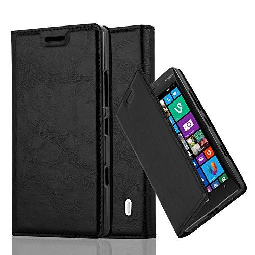 Cadorabo Custodia Libro per Nokia Lumia 929/930 in Nero di Notte – con Vani di Carte, Funzione Stand e Chiusura Magnetica – Portafoglio Cover Case Wallet Book Etui Protezione
