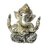 #6: RK Fashion Silver Plated Ganesh Idol   Ganesh Idols   Ganpati Idols   Car Dashboard Idols   Ganesh Statue   Ganpati Idols   idols for Home   Idols for Car   Ganesh Idol for Car
