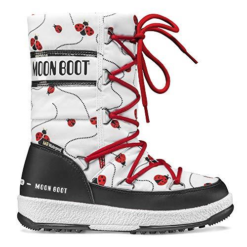 Moon-boot Mädchen Jr Girl Quilted Ladybug Wp Schneestiefel, Weiß (Bianco 001), 30 EU