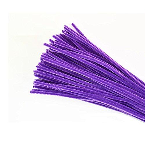 Monbedos Cure-Pipes Chenille Craft Shilly-Stick DIY Chambre D'enfant à la Main de Jouets pour Enfants Lot de 100, Violet Clair, 30cm x 6mm