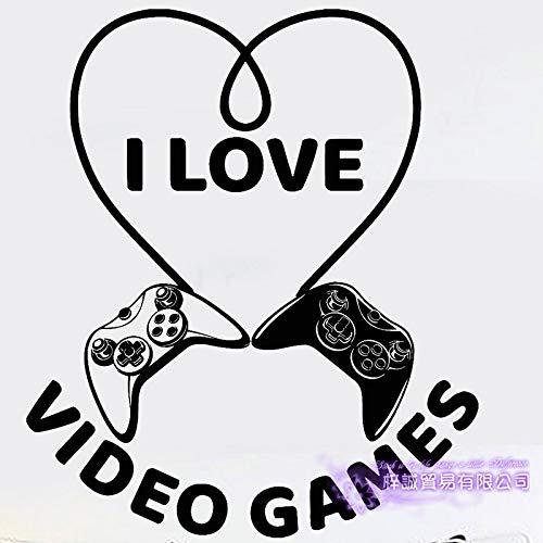 yaoxingfu Video Game Sticker Spielen Spielzimmer Aufkleber Gaming Poster Gamer Vinyl Wandtattoos Parede Decor Wandbild Video Game Sti gelb 58x68m