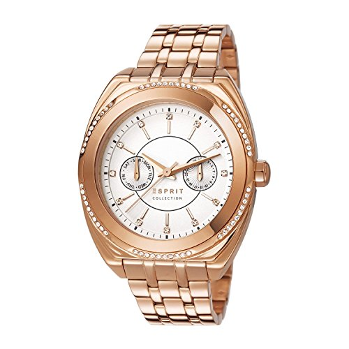 Esprit Damen-Armbanduhr Clymene Analog Quarz Edelstahl EL102072F04