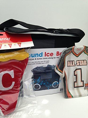 Bundle Outdoor Kühler mit Lautsprecher für MP3-Player Oder iPod, Celebrate Banner, und Fußball Jersey Teller Party und Heckklappe Bereit Ipod Bundle