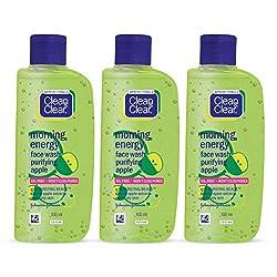 Clean & Clear Morning Energy Facewash, Apple, 100ml (Buy 2 Get 1 Free)
