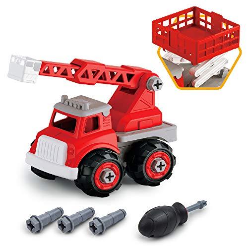 GizmoVine Spielzeugauto Feuerwehrauto Baby Spielzeug Geschenke für Jungs Mädchen Baby ab 2 Jahre alt (Feuerwehrauto)