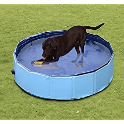 Piscina para Perros Plegable Diametro 120cm Altura 30cm Natacion Mascotas