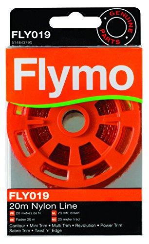 Flymo 2020m Nylon Trimmer Line für einige Flymo Gras Trimmer und Rasenbegrenzung-Rot -