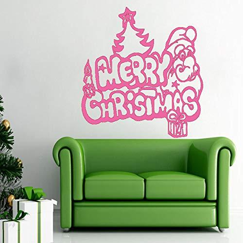 xingbuxin Adesivo murale Merry Christmas Adesivi murali in Vinile per camerette Regali Rimovibili Albero di Natale Decorazioni per la casa 4 57x77cm